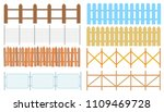 rural wooden fences  pickets... | Shutterstock .eps vector #1109469728