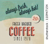 retro vintage coffee background ... | Shutterstock .eps vector #110947154