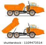 off highway truck with... | Shutterstock .eps vector #1109473514