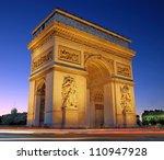 the triumphal arch  arc de... | Shutterstock . vector #110947928