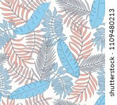 tropical background with palm... | Shutterstock .eps vector #1109480213