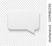 vector white blank paper speech ... | Shutterstock .eps vector #1109482250