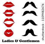 ladies and gentlemen bathroom... | Shutterstock .eps vector #1109482676