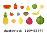 vector set of colorful cartoon... | Shutterstock .eps vector #1109488994