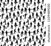 vector seamless working people... | Shutterstock .eps vector #1109489030