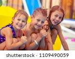 portrait of a cute happy... | Shutterstock . vector #1109490059