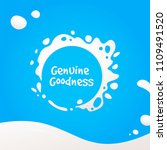 splash of milk. milk stain...   Shutterstock .eps vector #1109491520