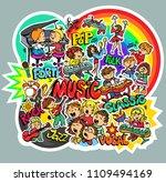 vector. bright children's... | Shutterstock .eps vector #1109494169