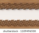 wooden ornament background. 3d... | Shutterstock . vector #1109496530