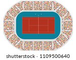 top view of a tennis arena | Shutterstock .eps vector #1109500640