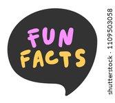 fun facts. sticker for social... | Shutterstock .eps vector #1109503058