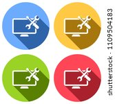computer repair service. set of ... | Shutterstock .eps vector #1109504183