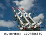 three missiles on the... | Shutterstock . vector #1109506550