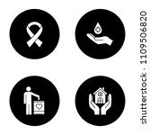 charity glyph icons set.... | Shutterstock .eps vector #1109506820