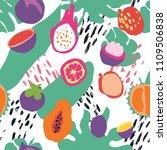 minimal summer trendy vector... | Shutterstock .eps vector #1109506838