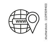 www vector line flat icon url.... | Shutterstock .eps vector #1109509403