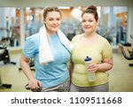 two young plump women in... | Shutterstock . vector #1109511668