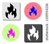 fire. simple flat vector icon...