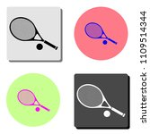 tennis racket and ball. simple... | Shutterstock .eps vector #1109514344
