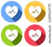 cardiac pulse. heart and pulse... | Shutterstock .eps vector #1109514779