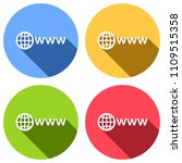 symbol of internet with globe... | Shutterstock .eps vector #1109515358