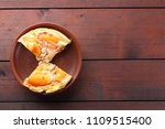 homemade pizza on a clay plate  ... | Shutterstock . vector #1109515400