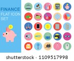 set vector flat icon business...