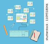 web design graphic interface...