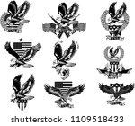 american eagle. military marine ... | Shutterstock .eps vector #1109518433