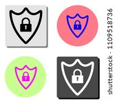 security shield with lock.... | Shutterstock .eps vector #1109518736
