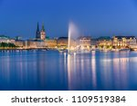 the inner alster lake  german ...   Shutterstock . vector #1109519384
