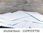 outgoing correspondence  a lot... | Shutterstock . vector #1109519750