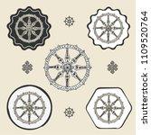 dharma wheel dharmachakra... | Shutterstock .eps vector #1109520764