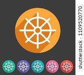 dharma wheel dharmachakra... | Shutterstock .eps vector #1109520770
