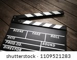 film slate or movie clapper... | Shutterstock . vector #1109521283