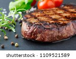 grilled beef steak with... | Shutterstock . vector #1109521589
