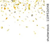 gold yellow on white glossy... | Shutterstock .eps vector #1109526548