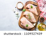 raw chicken fillet with spices... | Shutterstock . vector #1109527439