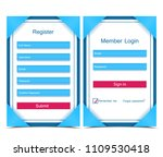 vector registration and login... | Shutterstock .eps vector #1109530418