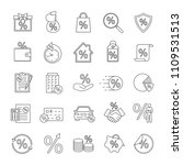 percents linear icons set.... | Shutterstock .eps vector #1109531513