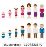 aging concept of male and... | Shutterstock .eps vector #1109533940