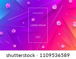 abstract vector multicolored... | Shutterstock .eps vector #1109536589
