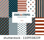 stars and stripes seamless... | Shutterstock .eps vector #1109538239