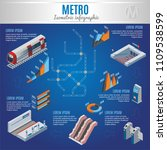isometric metro infographic... | Shutterstock .eps vector #1109538599