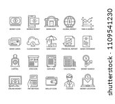 set of thin line banling icons | Shutterstock .eps vector #1109541230