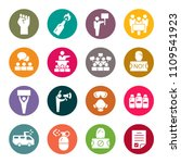 protest icon set | Shutterstock .eps vector #1109541923