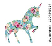 beautiful unicorn  magic horse  ... | Shutterstock . vector #1109545319