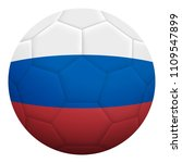 realistic isolated 3d soccer...   Shutterstock .eps vector #1109547899
