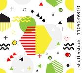 trendy seamless memphis style...   Shutterstock .eps vector #1109549810