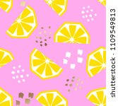 seamless lemon geometric...   Shutterstock .eps vector #1109549813